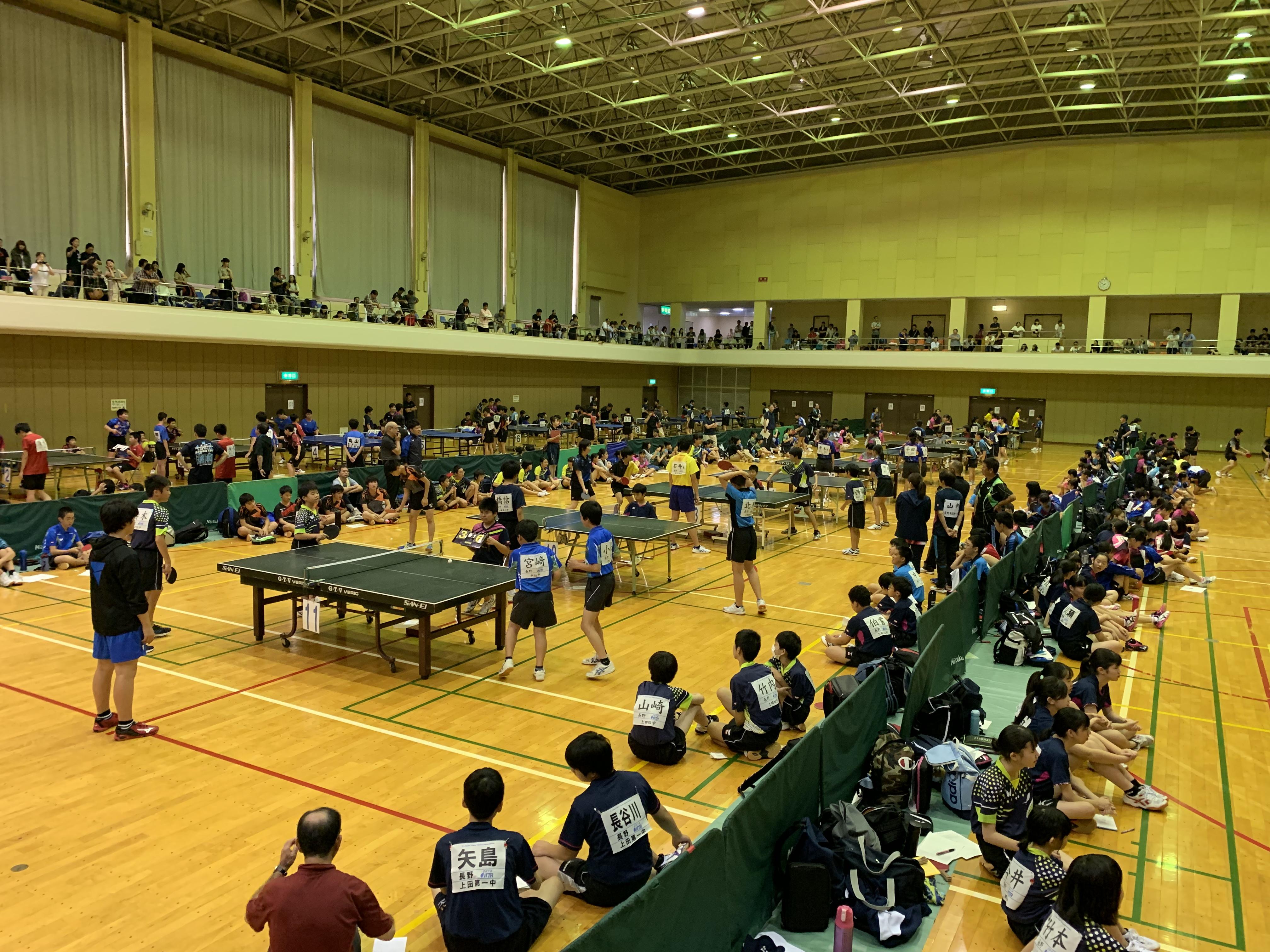 第36回小諸オープンチーム対抗卓球大会写真③